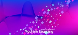 Falling Particles Distressed Purple Vector. Data Analytics Cool Banner. Big Data Neon Wallpaper. 3D Liquid Shapes Website. Grunge Geometric Background. Pink Blue Purple Futuristic Gradient Overlay.