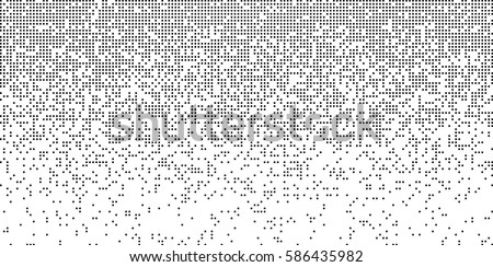 Falling Pixels. Pixel Abstract Mosaic Gradient Design Background. Monochromatic Abstract Background. Vector Illustration.