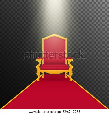 falling rays on royal armchair