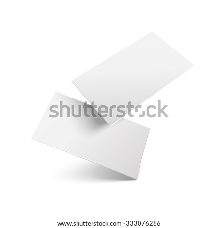 Falling realistic business cards template. Vector illustration.