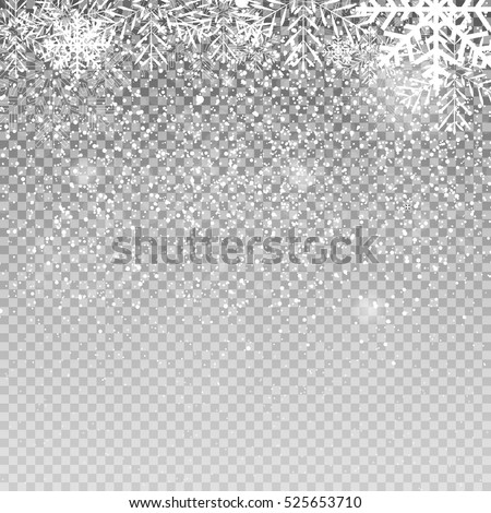 falling shining snowflakes and