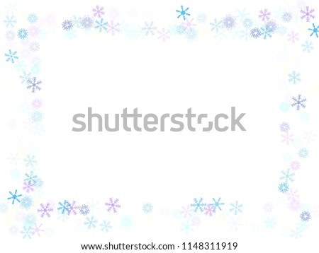 falling snow confetti snowflakes vector border festive winter christmas new year sale