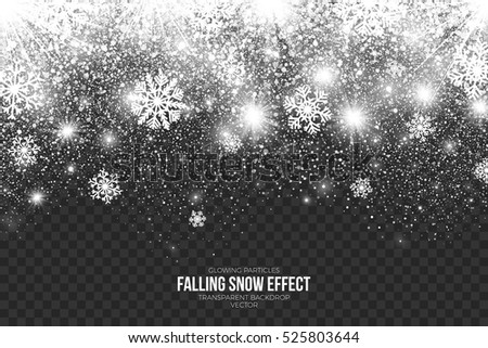 falling snow effect on