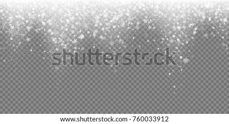 falling snow flake pattern
