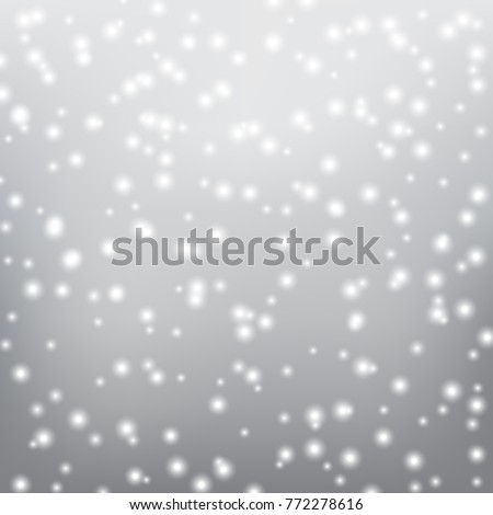 Falling snow on a gray background. Vector illustration