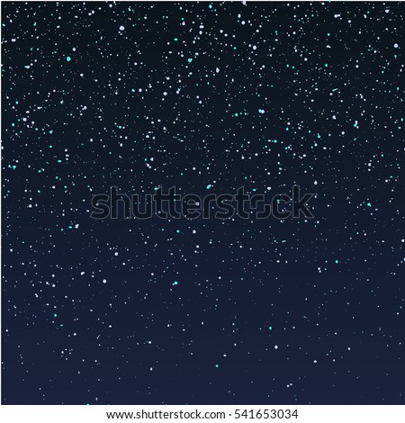 falling snow on dark blue sky