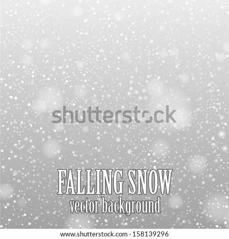 falling snow on the gray