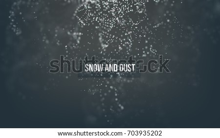 falling snow particles flying