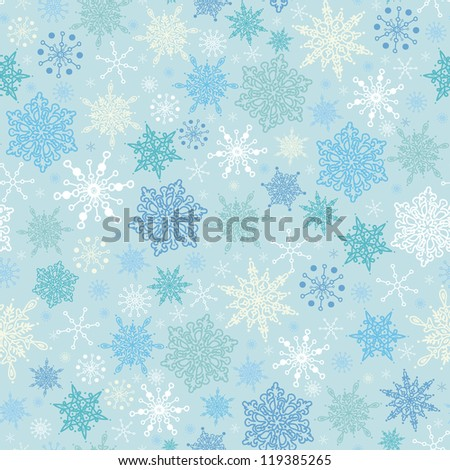 Falling Snow Seamless Pattern Background