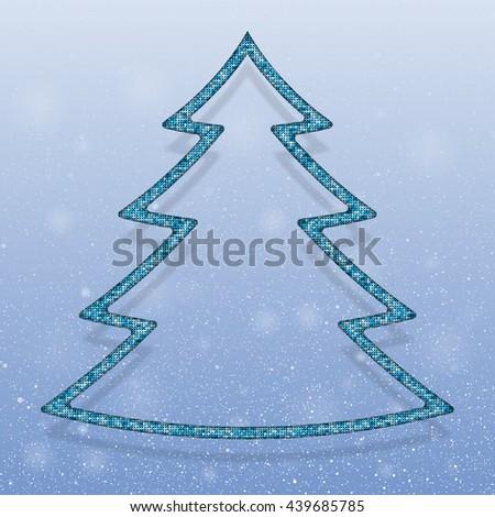 Falling snow vector. White splash on blue background. Winter snowfall hand drawn spray texture.
