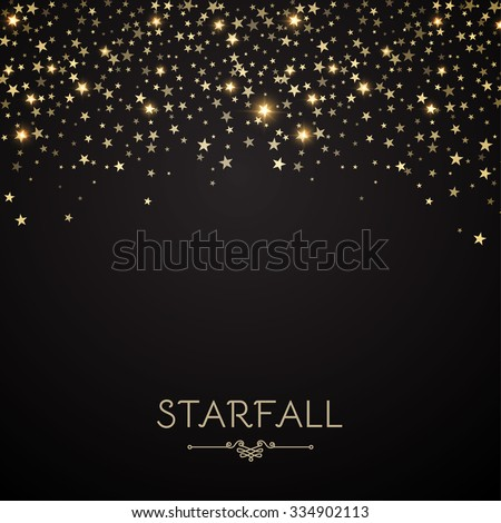 Falling Stars Abstract Background. Light Curtain. Vector illustration.