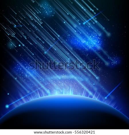falling stars  meteors or