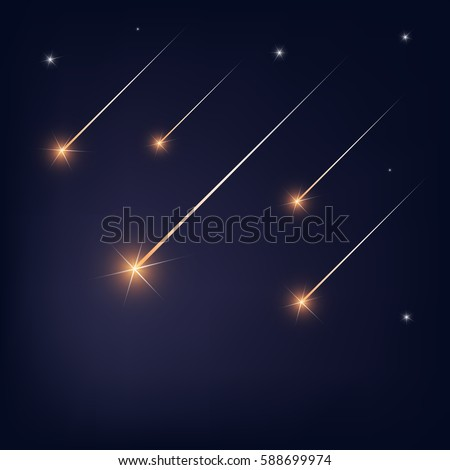 falling stars on black sky