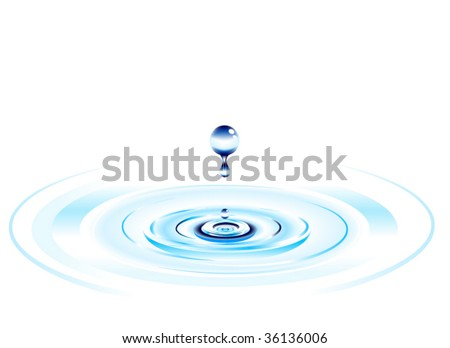 falling water drop background design