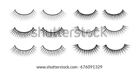 False eyelashes. Fake the cilia. A collection of six sets.