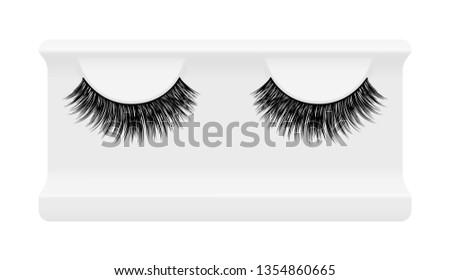 56575996c64 False lashes vector illustration set. Female eyelashes collection. Trendy  fashion illustration for mascara pack