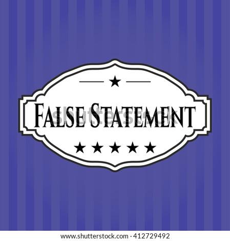 False Statement card, poster or banner