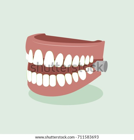 False teeth vector illustration