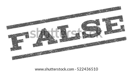 False watermark stamp. Text tag between parallel lines with grunge design style. Rubber seal stamp with scratched texture. Vector grey color ink imprint on a white background.
