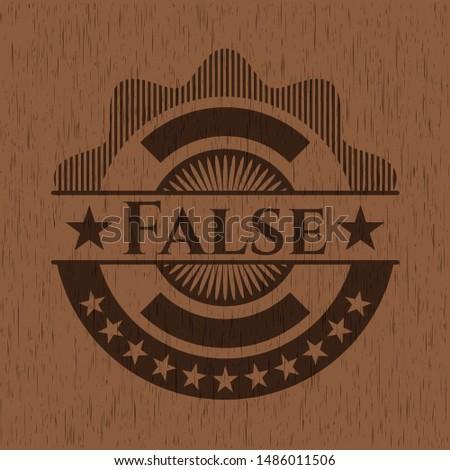 False wood signboards. Vector Illustration.