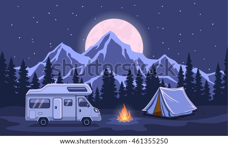 family adventure camping