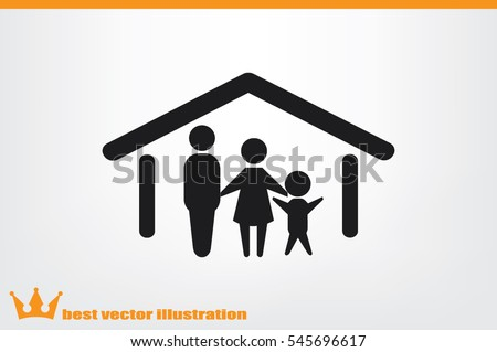 family and home vector icon