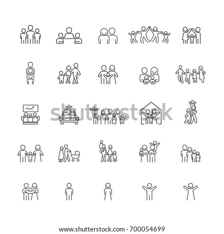 Family and People icons set,Vector