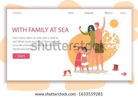 family at sea horizontal banner