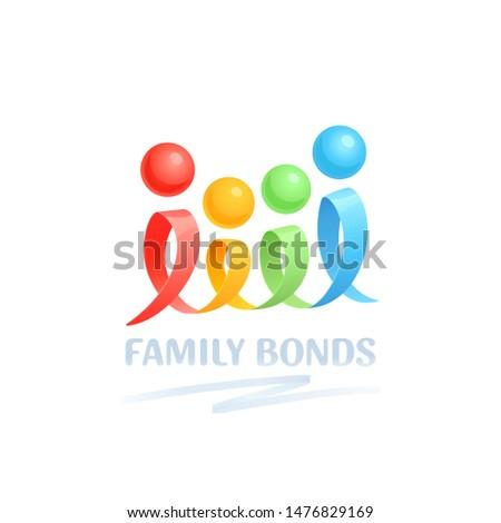 family bonds vector logo
