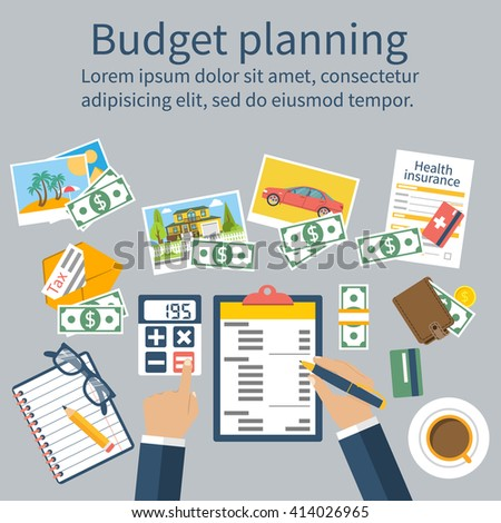 family budget planning concept