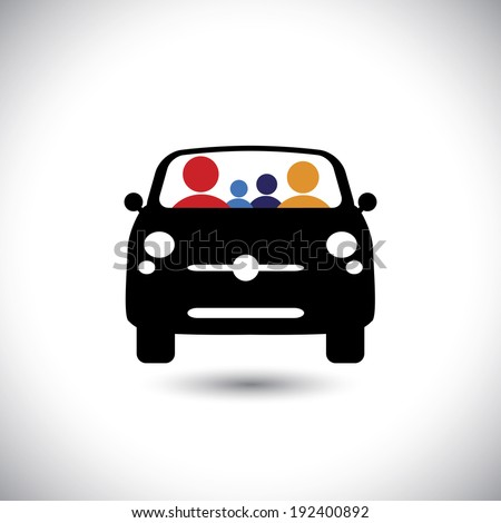 family   car icon  father
