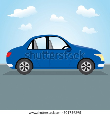 family car vector illustration