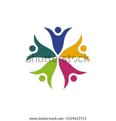 Family care logo design vector template #1314623711