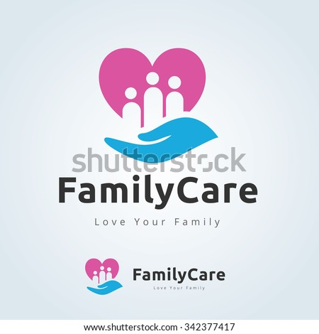 Family care logo,love family,family logo,vector logo template