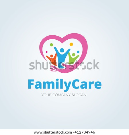 Family Care logo,People logo,Vector logo template