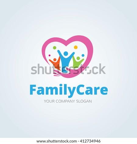 Family Care logo,People logo,Vector logo template