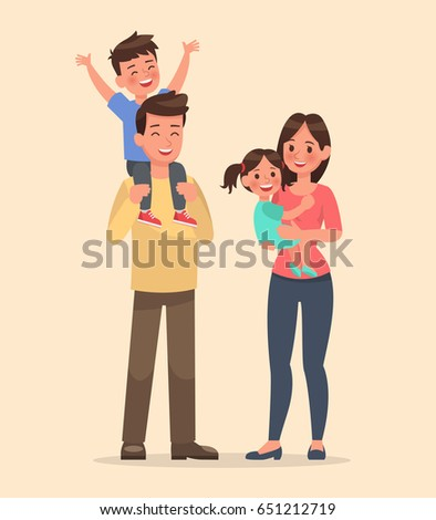 family character vector design