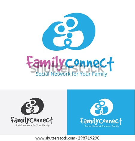 Family Connect,family logo,baby,people,charity,communication,social,human logo