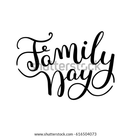 family day hand lettering template for card poster print ez canvas