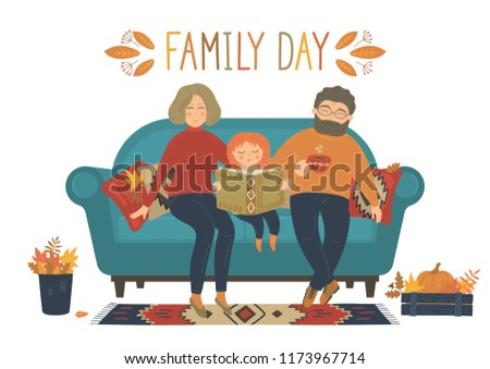 family day happy family sit on