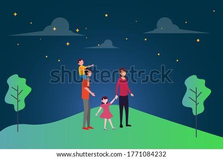 family dream vector concept