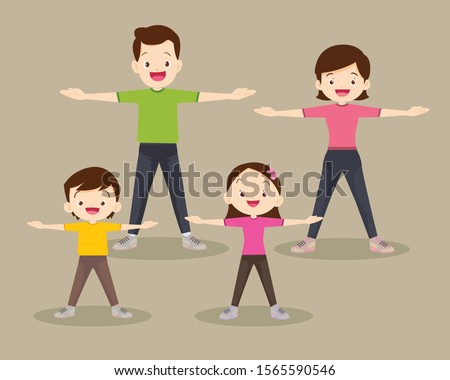 family exercising together.Happy Family exercising Together in public park For Good Health, Healthy, Activities, Physical Health, Sport, Daily Routine, Exercise, Lifestyle