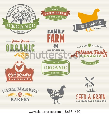 Family Farm Icon Set
