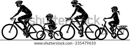 Family Fun Riding Bicycle