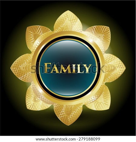 Family gold shiny flower