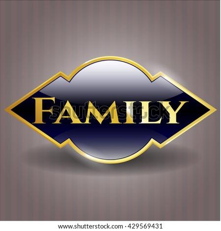 Family golden badge or emblem