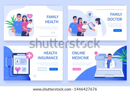 Family health concept. Can use for web banner, infographics, hero images. Flat isometric vector illustration isolated on white background.