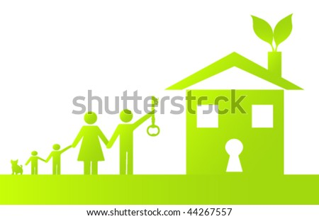 Family Holding the Key to Going Green