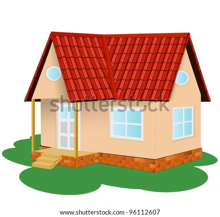 Family house, vector illustration . - stock vector