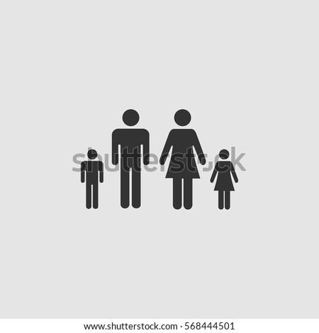 family icon flat black